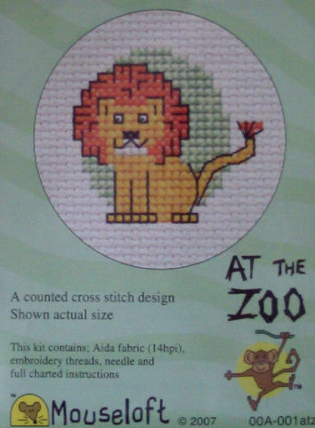 At the Zoo Mini Cross Stitch Kits By Mouseloft
