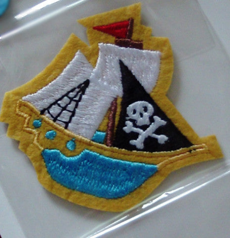 Stick on / Sew-on Motif - Pirate Ship