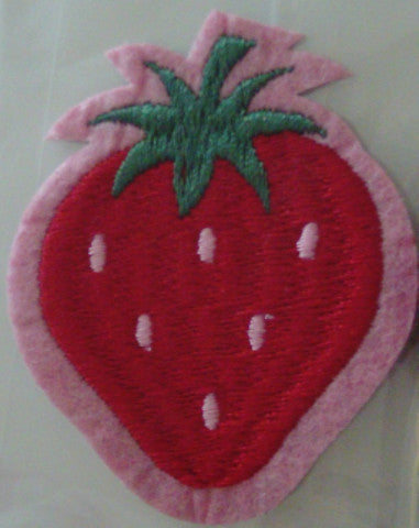 Stick on / Sew-on Motif - Strawberry