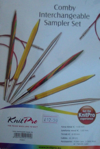 Interchangeable Circular Needles Set - Comby Sampler Set by Knitpro