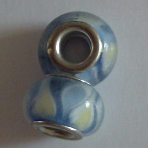 Blue Glass Lampwork Bead - Individual