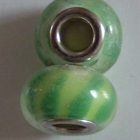 Green Glass Lampwork Bead - Individual