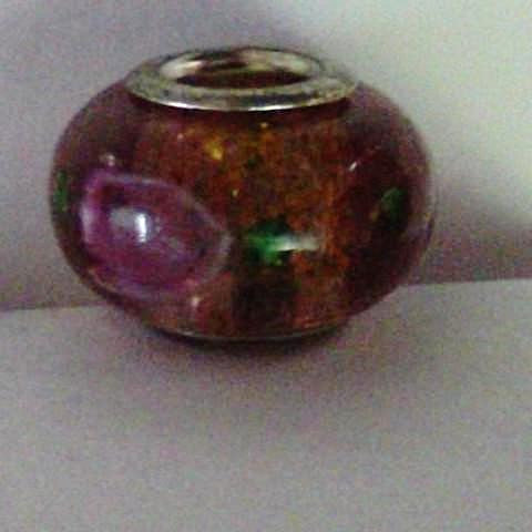 Pink Glass Lampwork Bead
