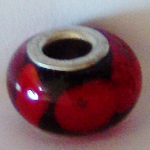 Red Glass Lampwork Bead