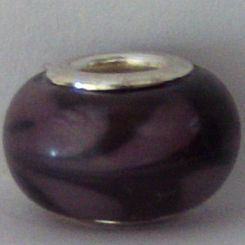 Purple Glass Lampwork Bead - Individual