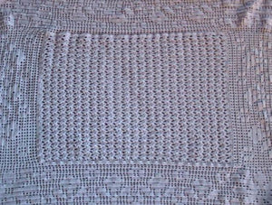 Flowers and Fans Crochet Heirloom Baby Blanket by Crafts by Design