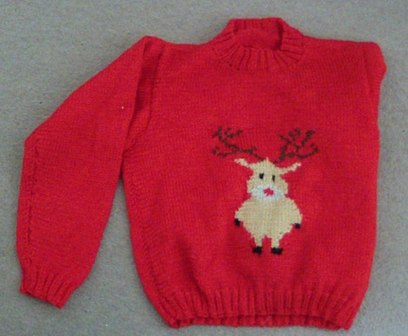 Christmas Jumper - Reindeer  by Crafts by Design