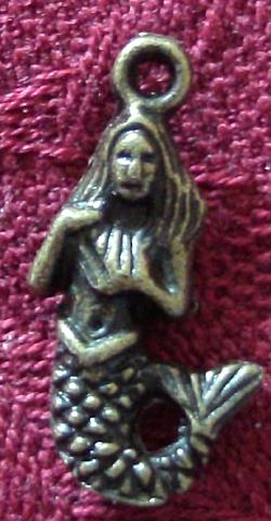 Antique Bronze Mermaid Charm