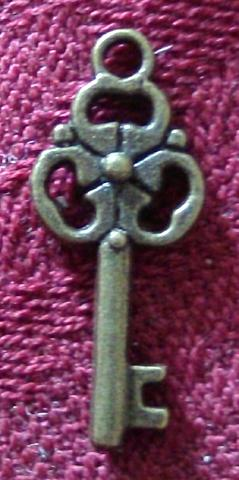 Antique Bronze Key Charm