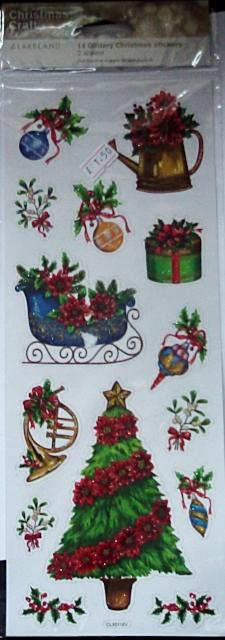 Glittery Christmas Stickers by Lakeland