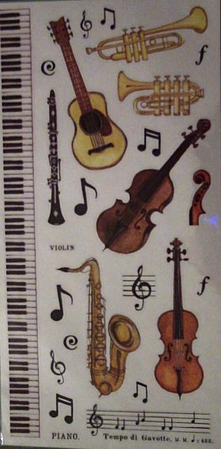 Music Themed Creative Stickers by Woodstock