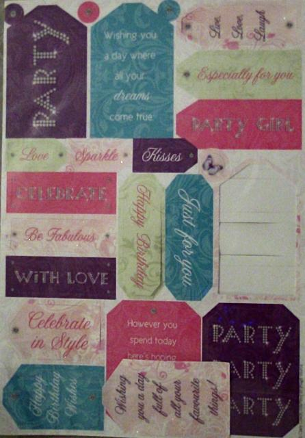 Strictly Party Glitter Sentiments by Papermania
