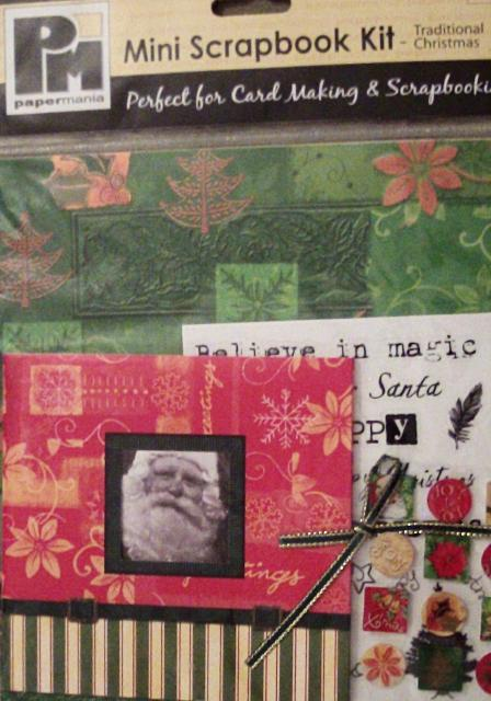Traditional Christmas Mini Scrapbook Kit by Papermania