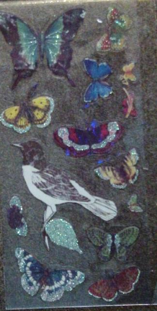 Butterfly and Bird Clear Stickers by Melody Ross