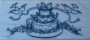 Wedding Cake Rubber Stamp by Kodomo Art and Design