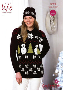 Christmas Sweater and Hat - Stylecraft 9029