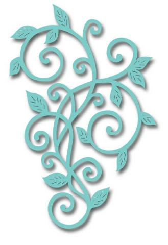 Leaf Scroll Metal Die by Sweet Dixie