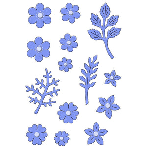 Delicate Blossoms Metal Dies by Sweet Dixie (14 pieces)