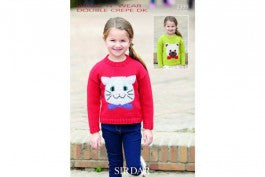 Sirdar Knitting Pattern 2399 - Kids Cat/Bear Jumper - DK