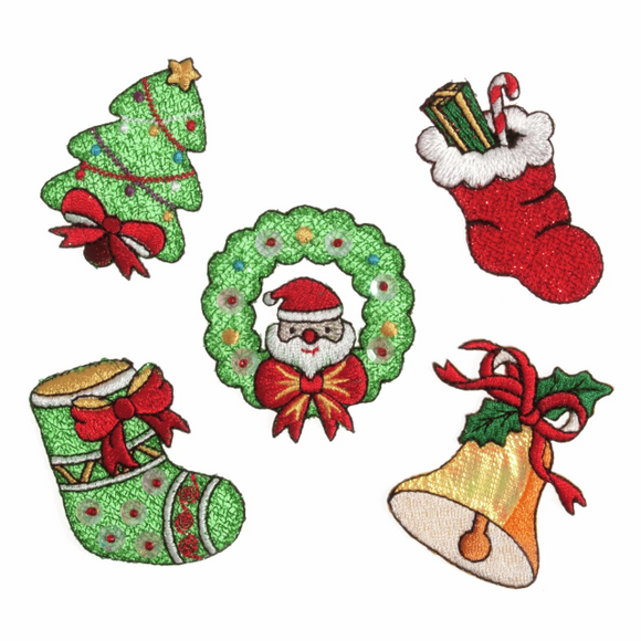 Iron on/Sew on Sequined Christmas Motifs