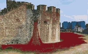 Tower of London Poppies Cross Stitch Kit - Crafts by Design