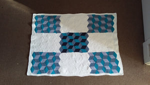 Tumbling Blocks Baby blanket - Exclusive to Crafts by Design