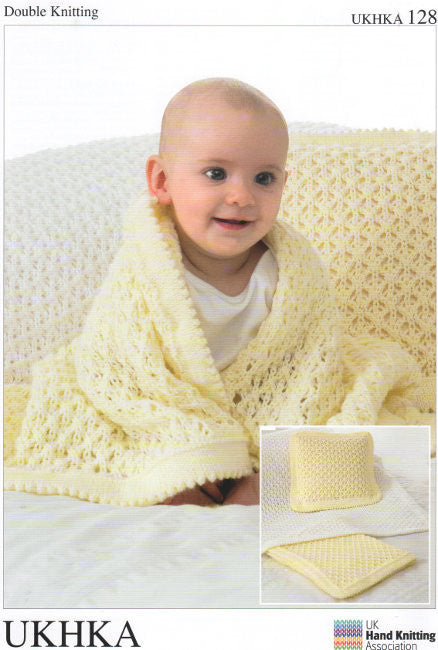 Knitting Pattern: Blankets and Cushion - UKHKA 128