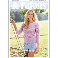 Ladies Summer Lace Top Knitting Pattern - Patons 3864