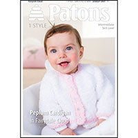 Patons Peplum Cardigan in Fairytale Cloud Pattern