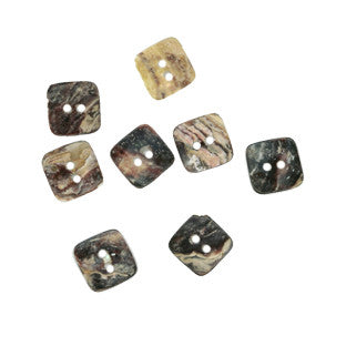 Akoya Shell Square Button - 11.5mm