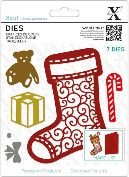 Xcut Die - Filigree Christmas Stocking (7 pieces)