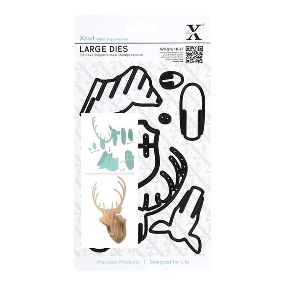Xcut Large Dies (8pcs) - Stag Head