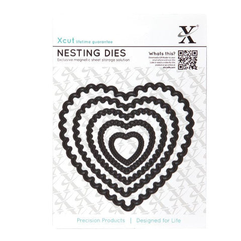 Xcut Nesting Dies -  Scalloped Heart (5 pieces)