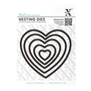 Xcut Nesting Dies -  Heart (5 pieces)