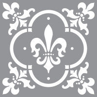 "Americana Decor Stencils - Fleur de Lys (12""x12"") by DecoArt"