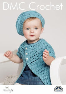 Baby's Belle Beret and Cardigan Pattern - DMC Crochet