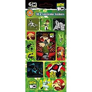Ben 10 3D and Lenticular Stickers