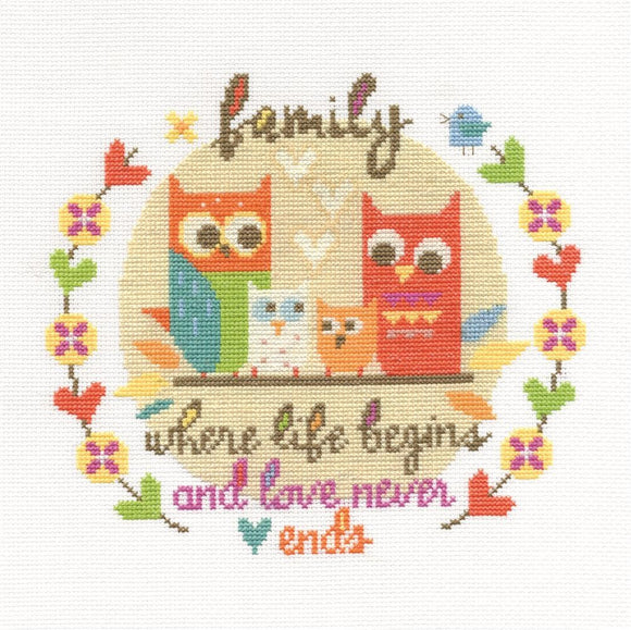 DMC Cross Stitch Kit - Modern - Family