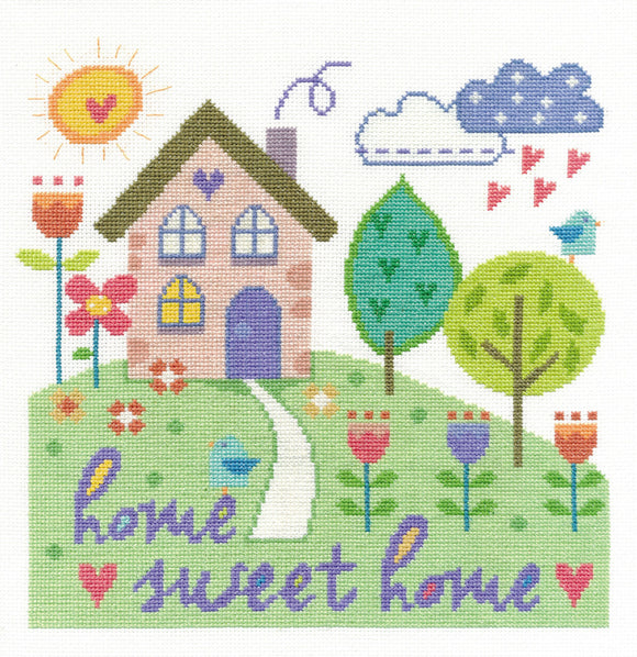 DMC Cross Stitch Kit - Modern - Home Sweet Home