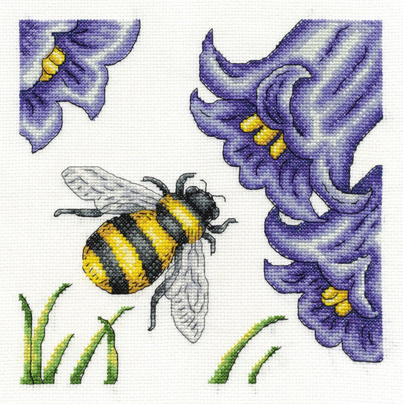 DMC Cross Stitch Kit - Butterflies And Insects - Bee And Bluebells