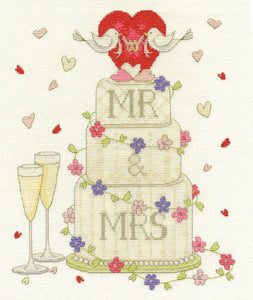 DMC Cross Stitch Kit - Modern - Wedding Congratulations