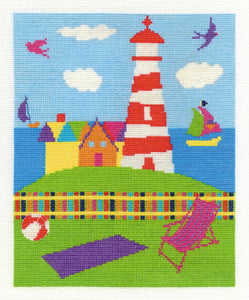 DMC Cross Stitch Kit - By The Seaside - The Lighthouse