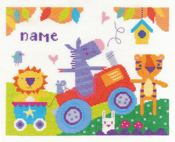 DMC Cross Stitch Kit - For The Little Ones - Fun Day
