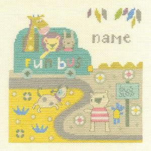 DMC Cross Stitch Kit - For The Little Ones - Baby Bus Stop