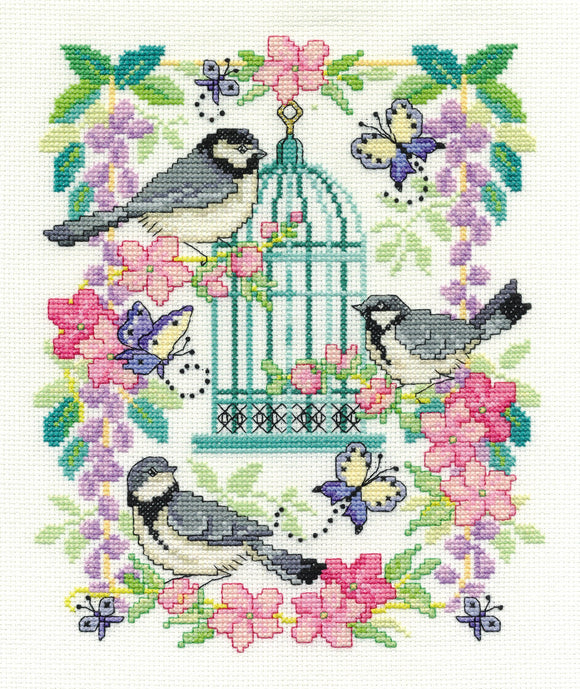 DMC Cross Stitch Kit - Oriental Delight - Oriental Birdcage