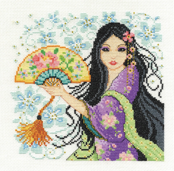 DMC Cross Stitch Kit - Oriental Delight - Geisha