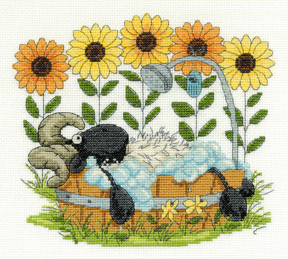 DMC Cross Stitch Kit - Shabby Sheep - Time to Relax BK1569