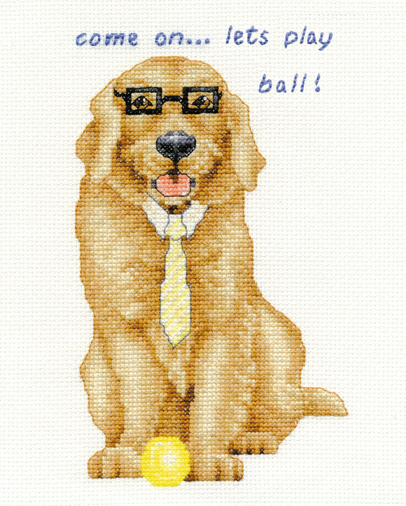 DMC Cross Stitch Kit - Dogs - Golden Retriever