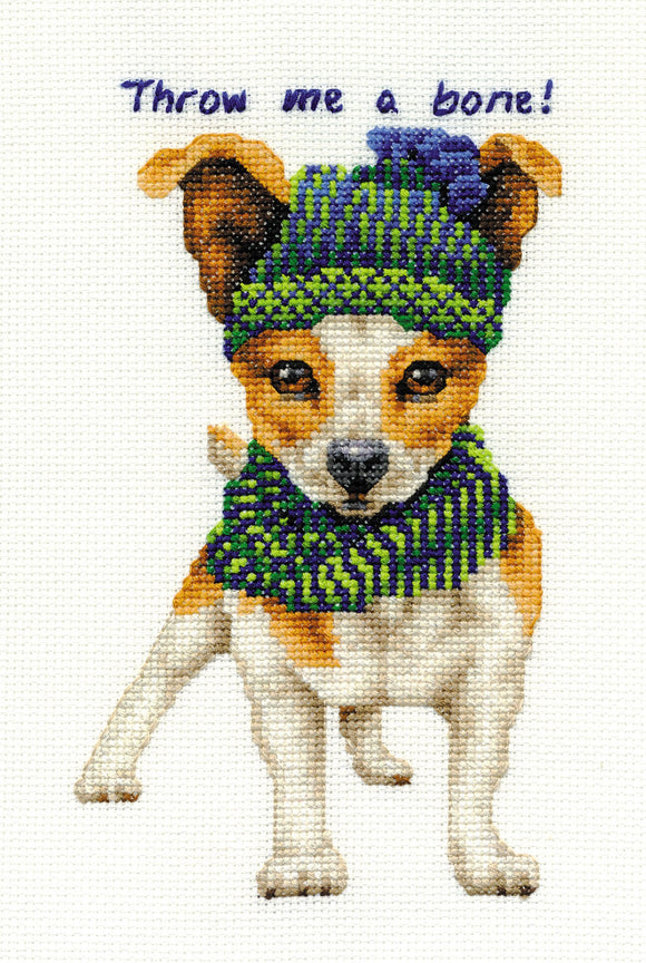 DMC Cross Stitch Kit - Dogs - Jack Russell