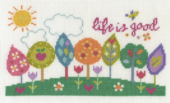 DMC - Modern - Life is Good Cross Stitch Kit - BK1656